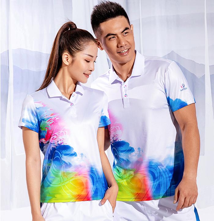 中国风龙凤系列2020春夏新款男女运动短袖t恤88347/88348订购订做
