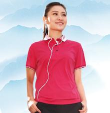 【胭脂红】商务T恤233118 233128
