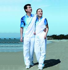【白/蓝】梭织长裤27749 27750