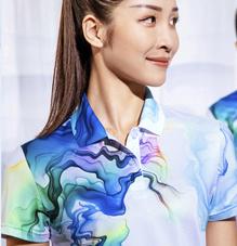 中国风水墨丹青2020春夏新款男女运动短袖t恤88343/88344团购定制